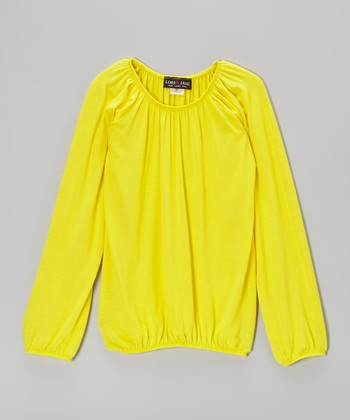Yellow Peasant Top