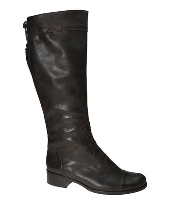 Espresso Leather Boot