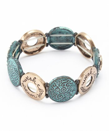 Turquoise & Gold 'Dream' Stretch Bracelet