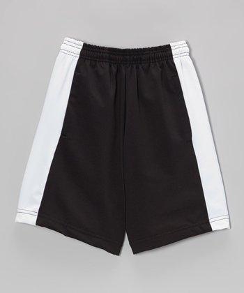 Fit 2 Win Sportswear Black & White Canyon Shorts - Boys