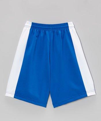 Fit 2 Win Sportswear Royal Blue & White Captain Shorts - Boys