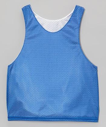 Fit 2 Win Sportswear Royal Blue & White Mesh Presidential Reversible Tank - Boys