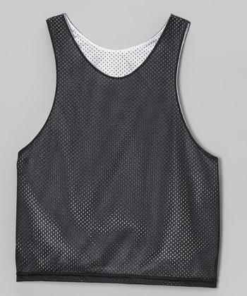 Fit 2 Win Sportswear Black & White Mesh Reversible Presidential Tank - Boys