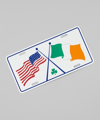 Irish American Flags Plate