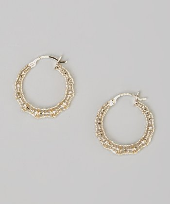 Gold Textured Small Hoop Earrings