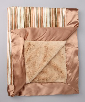 Luxe Latte Tori Satin Trim Velour Blanket