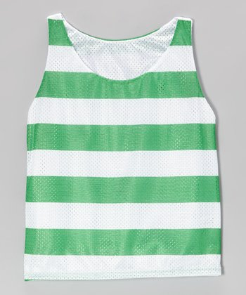 Kiwi Stripe Breakout Reversible Mesh Tank - Girls