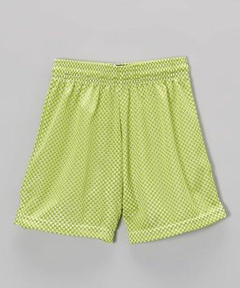 Fit 2 Win Sportswear Lime Mesh Nantucket Shorts - Girls