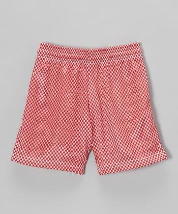 Fit 2 Win Sportswear Red Mesh Nantucket Shorts - Girls