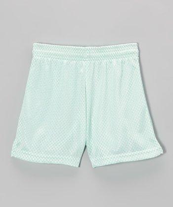 Fit 2 Win Sportswear Mint Mesh Nantucket Shorts - Girls