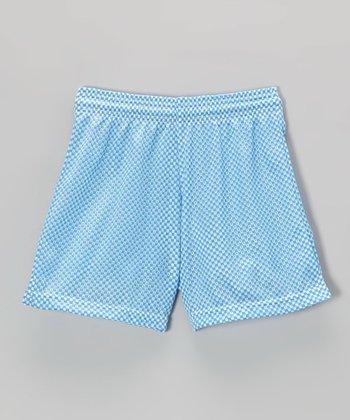 Fit 2 Win Sportswear Cornflower Mesh Nantucket Shorts - Girls