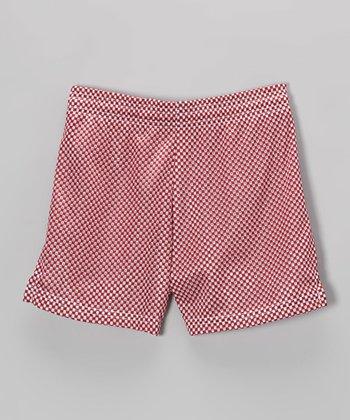 Fit 2 Win Sportswear Maroon Mesh Nantucket Shorts - Girls