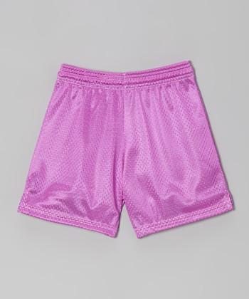Fit 2 Win Sportswear Lavender Mesh Rockville Shorts - Girls