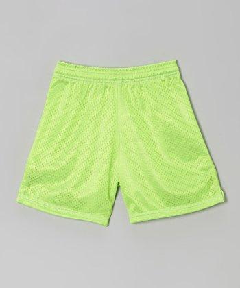 Fit 2 Win Sportswear Neon Lime Mesh Rockville Shorts - Girls
