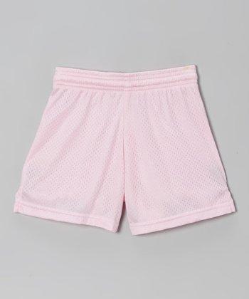 Fit 2 Win Sportswear Pale Pink Mesh Rockville Shorts - Girls