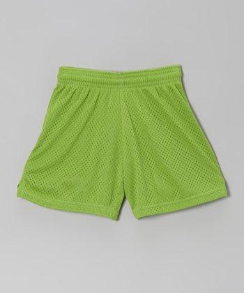 Fit 2 Win Sportswear Lime Mesh Rockville Shorts - Girls