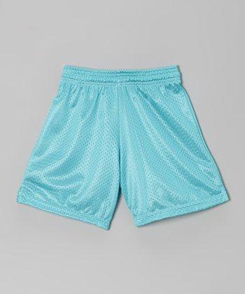 Fit 2 Win Sportswear Teal Mesh Rockville Shorts - Girls