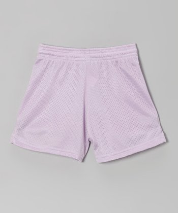 Fit 2 Win Sportswear Pale Purple Mesh Rockville Shorts - Girls