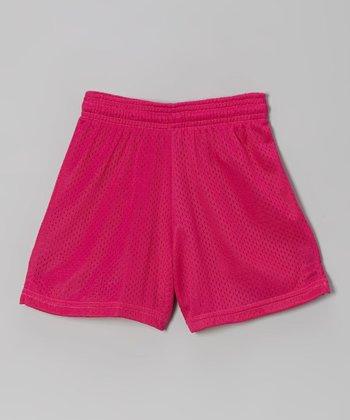 Fit 2 Win Sportswear Fuchsia Mesh Rockville Shorts - Girls