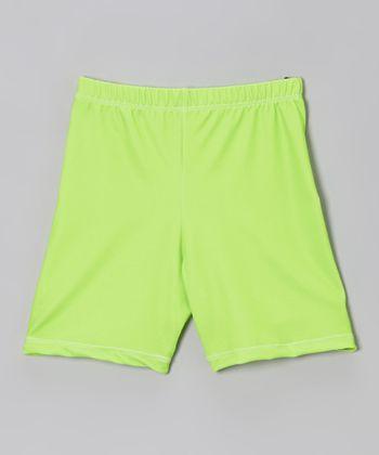 Fit 2 Win Sportswear Neon Lime Miami Shorts - Girls
