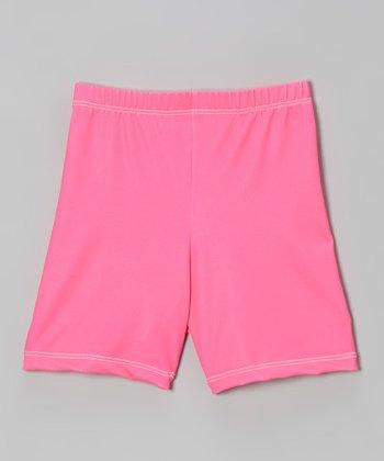 Fit 2 Win Sportswear Neon Pink Miami Shorts - Girls