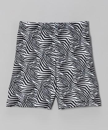 Fit 2 Win Sportswear Black Zebra Miami Shorts - Girls