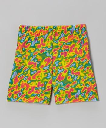 Fit 2 Win Sportswear Yellow Infrared Miami Shorts - Girls