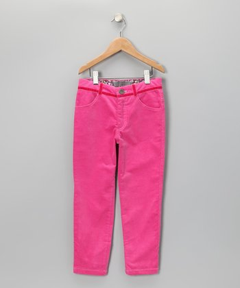 Pink Corduroy Pants - Toddler & Girls