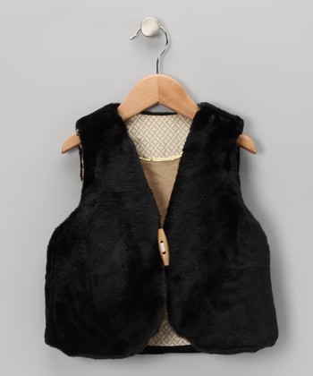 Black & Tan Reversible Shepherd Vest - Toddler & Girls