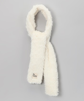 White Plush Scarf
