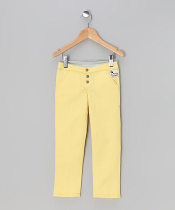 Yellow Gemini Stretch Pants - Toddler & Girls