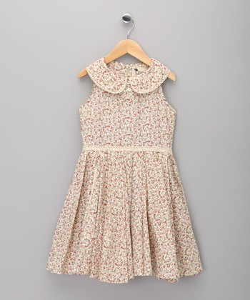 Pink Floral Hepburn Dress - Infant, Toddler & Girls
