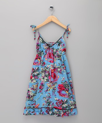 Blue Floral Eugénie Dress - Infant & Toddler
