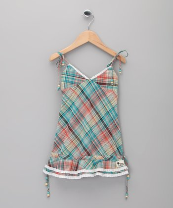 Green Plaid Sixtine Top - Toddler & Girls