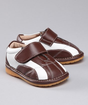 Brown & White Squeaker Shoe