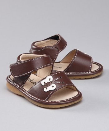 Brown Butterfly Squeaker Sandal