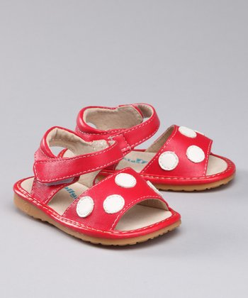 Red Polka Dot Squeaker Sandal