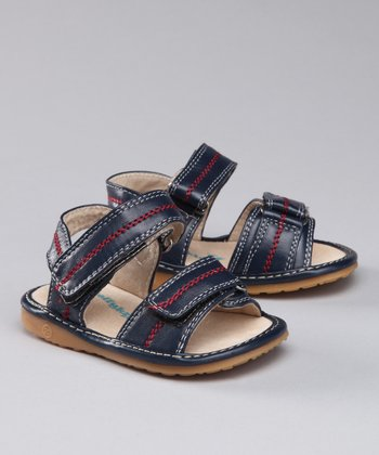 Sneak A' Roos Navy Blue Squeaker Sandal