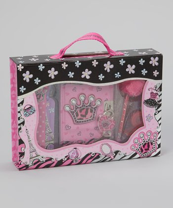 Pink & Black Crown Trinket Box