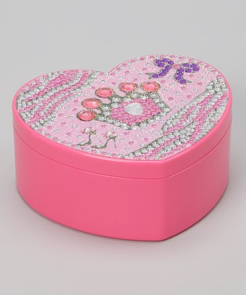 Pink Rhinestone Crown Jewelry Box