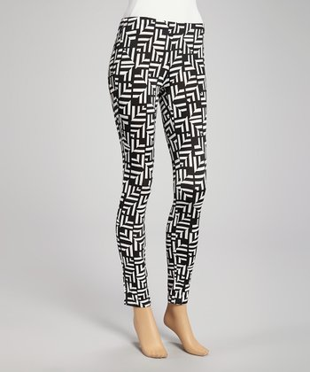 Black Geometric Leggings