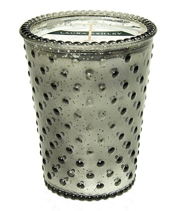 Fireside Crackle Hobnail Glass Candle