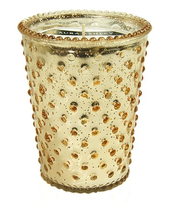 Currant Crackle Hobnail Glass Candle