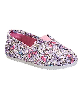 Purple & Pink Butterfly Tomy Slip-On Shoe