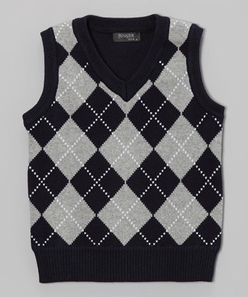 Navy Argyle Sweater Vest - Toddler & Boys