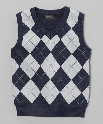 Blue Argyle Sweater Vest - Toddler & Boys