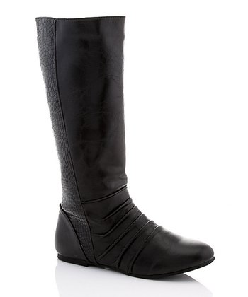 Black RSB Ruched Boot