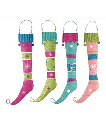 Glitter Stocking Wall Décor Set