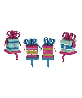 Gift Box Stocking Holder Set