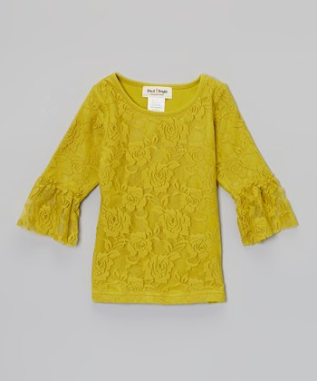 Green Lace Top - Infant, Toddler & Girls